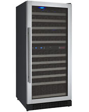Allavino 121 Bottle Built In Commercial Wine Cooler Refrigerator Dual Zone