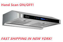 CYBER  Seamless Stainless Steel Under Cabinet Range Hood 30 Touch Panel 900 CFM