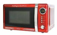 Retro Series 0 7 Cubic Foot Microwave Oven  Red