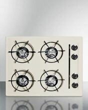 Summit 24  Cooktop in Bisque with Four Burners and Battery Ignition