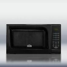 Mid Sized Microwave Oven With Black Finish