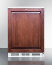 24  Wide Counter Height Refrigerator Freezer  Wood   CT66LBIIF