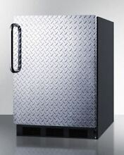 Built In Undercounter Refrigerator Freezer General use Black CT663BBIDPLADA