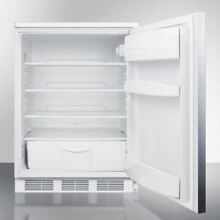 Medical Counter Height General All Refrigerator  Stainless Steel