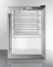 Summit Compact Commercial Glass Door Refrigerator Stainless S  SCR312LCSSPUB