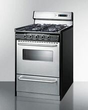 24  Wide Gas Range with Sealed Burners  Stainless Doors   Backguard