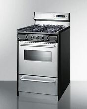 20  Wide Gas Range with Sealed Burners  Stainless Doors   Backguard