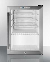 Summit Compact Commercial Glass Door Refrigerator Model SCR312LPUB