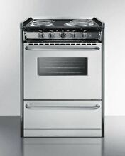 Summit 24  Electric Pro Style Range in Stainless Steel