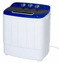 Portable Compact Mini Twin Tub Washing Machine Spin Cycle Hose Capacity Dorm New