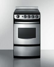 20  Wide Slide In Smooth Top Electric Range  Stainless Steel