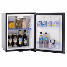 Smad 30L 110V 12V Mini Fridge with Lock Environmental Low Noise Cooler Black