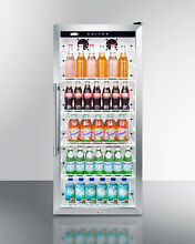 Summit SCR1150 Commercial Glass Door Beverage Merchandiser