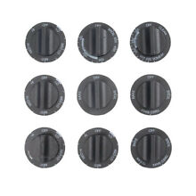 OEM 814362 Whirlpool Range Knob Set  includes 9 Black Knobs