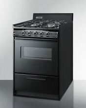 24  wide gas range in black oven window and electronic ignition