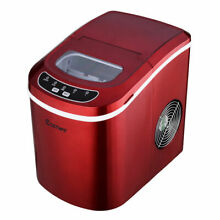 Red Portable Compact Electric Ice Maker Machine Mini Cube 26lb Day