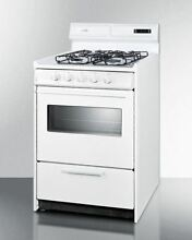 24  wide gas range in white oven window