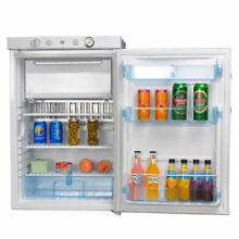 110V 12V 3 4 cu ft LP Gas Refrigerator Propane Mini Cooler AC DC Fridge