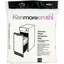 60ct Plastic Trash Compactor Bags for KENMORE  GE  FRIGIDAIRE  WHIRLPOOL  MAY