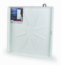 Camco 20762 30 OD x 28  Washing Machine Drain Pan for Stackable Units w PVC Fit