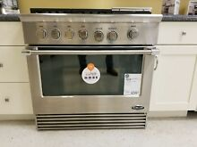 RDV364GDL DCS 36  DUAL FUEL LP RANGE COMES COMPLETE WITH GRIDDLE  DISPLAY ITEM