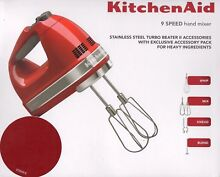 NEW KitchenAid KHM926 Artisan 9 Speed Hand Mixer  Empire Red 5KHM926AER