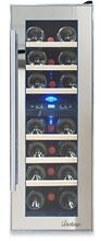 Home Bar Digital Display Stainless Steel Mirrored 21Bottle Dual Zone Wine Cooler