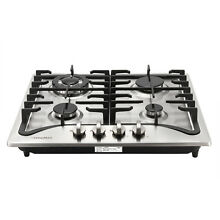 Kitchen Stove 23  Stainless Steel Built In 4 Burners LPG NG Gas Hob Cooktop  USA
