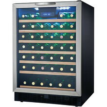 Danby DWC508BLS 50 Bottle Designer Wine Cooler   Black and Stainless