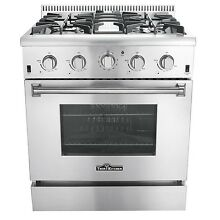 Thor Kitchen HRG3080U 30inch Professional Style Gas Range with 4 Burner and Oven