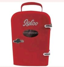 Igloo Mini Retro Beverage Fridge  Red