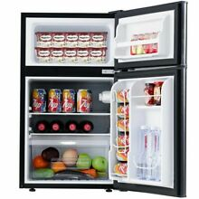 2 Door Compact Refrigerator 3 2 cu ft  Unit Small Freezer Cooler Fridge  Black