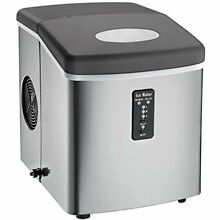 ICE103 Counter Ice Makers Top With Over Sized Bucket  Stainless Steel