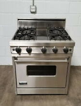 Viking 30 Inch Freestanding Gas Range Oven Model VGSC305 4BDSS
