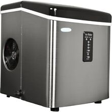 NewAir Ice Maker 28lb Daily Freestanding Black Stainless Steel 6 15 cubes minute