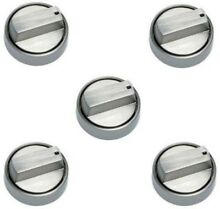 Genuine Wolf 824489 Set of 5 Knobs for 36  Gas Cooktop  in Stainless Steel