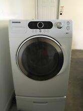Samsung WF328aaw  front load washing machine and pedastal