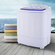 Portable Mini Compact Twin Tub Washing Machine Washer Spin Spinner New
