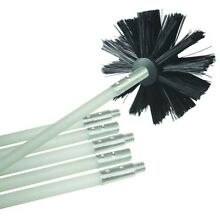 Dryer Vent Cleaning Kit Brush Head Extension Rod Duct Debris Lint Buildup Tool