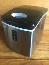 NewAir AI 100SS 28 Pound Portable Ice Maker Machine Appliance   Stainless Steel