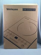 Weleyas Portable 1800W Platinum Energy Efficiency Electric Induction Cooktop