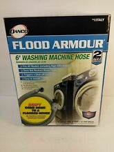 DANCO 6 Ft L Flood Armour FHT Elbow Washing Machine Hose Automatic Shutoff New