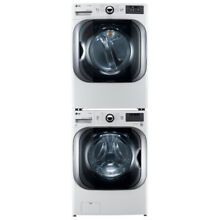 LG FRONT LOAD 5 2 MEGA WASHER and STEAM GAS DRYER  WHITE STACKABLE UNIT