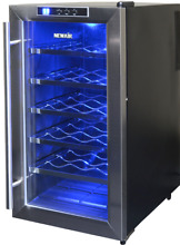 NewAir AW 181E Streamlined 18 Bottle Thermoelectric Wine Cooler  Stainless  1085