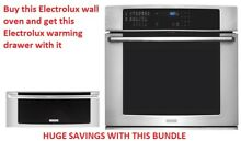 Electrolux 30 Single Wall Oven EI30EW35PS Bundle with warming drawer EW30WD55GS