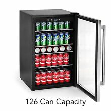 Mini Fridge Stainless Steel Thermostat Electric Commercial Beverage Refrigerator