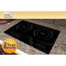 TI 2B Counter Countertop Burners Inset Double Induction Cooktop  120V  Black