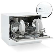 Small Spaces Kitchen Countertop Portable Dishwasher W  6 Wash Cycle Preset Start