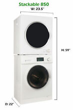 Equator Stackable set Washer824 with Delay start and Self Clean option and Dryer