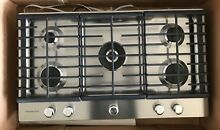 KitchenAid KCGS556ESS 36  Stainless Steel 5 Burner Gas Cooktop FREE SHIPPING